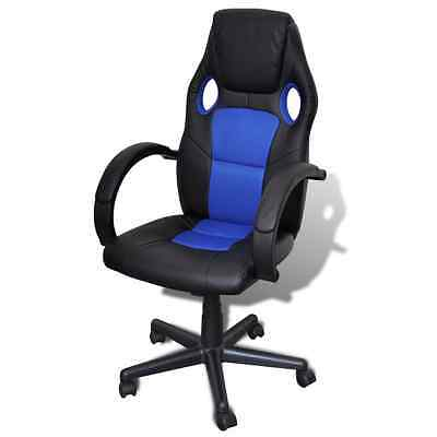 Overdrive Racing Office Chair Seat Executive Computer Gaming Faux Leather Blue