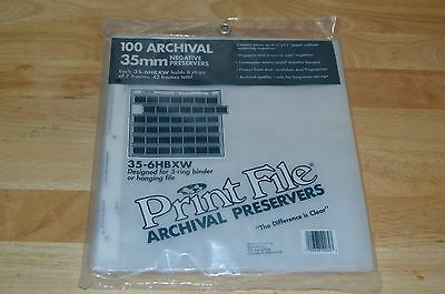Print File 35mm Archival Storage Pages for Negatives 100 pages 35-6hbxw