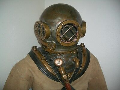 Authentic Rare Pacific Northwest Style Diving Helmet, Suit, Boots, Belt