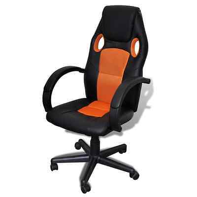 Overdrive Racing Office Chair Seat Executive Computer Gaming Faux Leather Orange