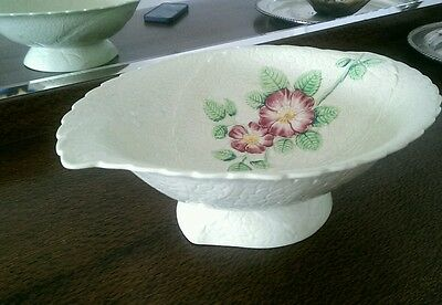 Vintage Carlton Ware Large Green Footed Serving Bowl WILD ROSE, Made in England