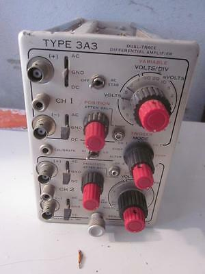 Tektronix Type 3A3 Dual-Trace Differential Amplifier Plug In Vintage Electronics