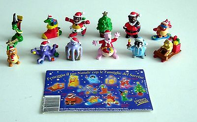 Extra Kinder Surprise Carletto Findus Serie Completa Le Famiglie Sorriso Natale