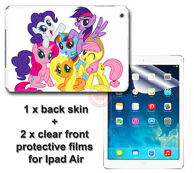 My Little Pony Cute SKIN STICKER COVER and 2 protected films Apple for iPad Air