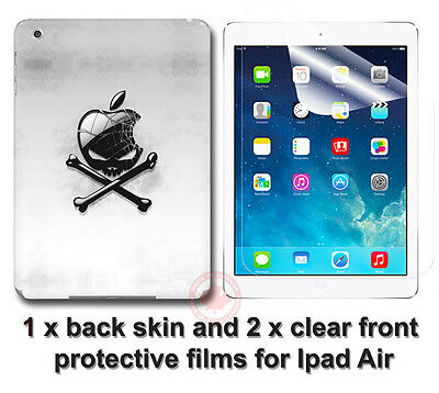 Cool Skull Arts SKIN STICKER COVER and 2 protected films Apple for iPad Air
