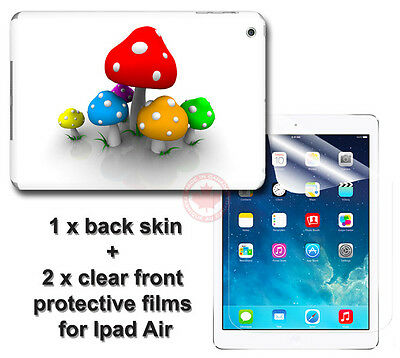 Cute Mushroom Arts SKIN STICKER COVER and 2 protected films Apple for iPad Air