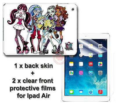 Monster High SKIN VINYL STICKER COVER and 2 protected films Apple for iPad Air