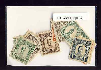 Colombie Antioquia - Colombia Antoquia 10 timbres différents