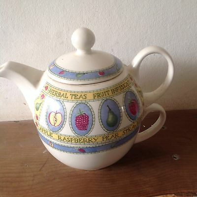 Arthur wood Herbal Tea Fruit Infusion Teapot and Cup in one