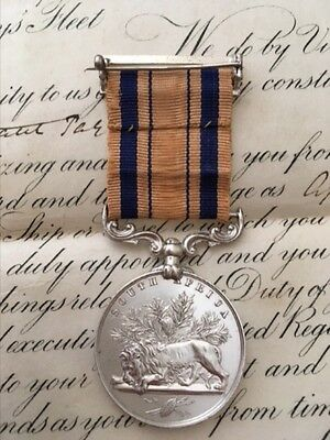 South Africa 1877-79 medal to Naval Officer with original commission dated 1874