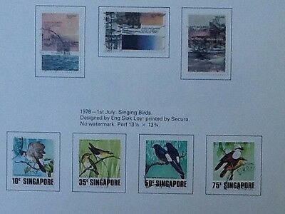 Singapore 1978 Parks And Gardens & Singing Birds Used Sets