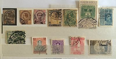 Siam Thailand - Rarer Postmarks Inc Singapore On Earlies Small Lot