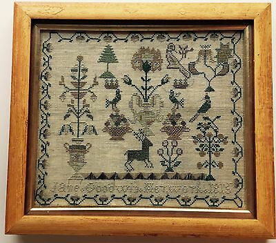 Beautiful Georgian Antique Sampler. Goodwin 1815