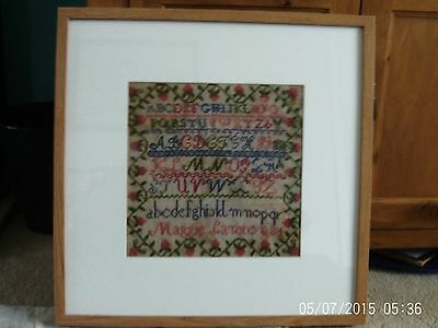 Colourful framed sampler by Maggie Lanxon