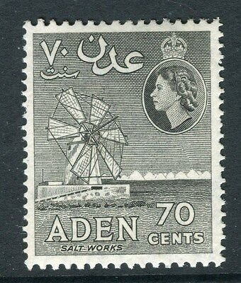 ADEN;  1953 early QEII issue fine Mint hinged 70c. value shade