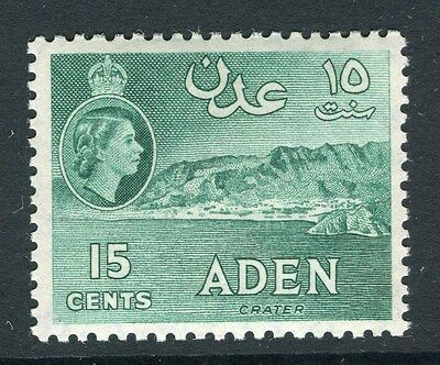 ADEN;  1953 early QEII issue fine Mint hinged 15c. value
