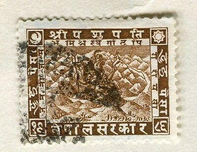 NEPAL;  1930 early Siva issue fine used 2p. value