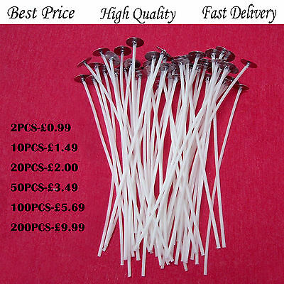 20cm High Quality Pre Waxed Wicks DIY Candle Making Chritmas Wax with Sustainers
