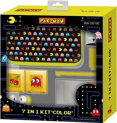 New Kit Official Pacman Pac-Man 7 In 1 3Ds Color Case Plus Accessories Freep&puk