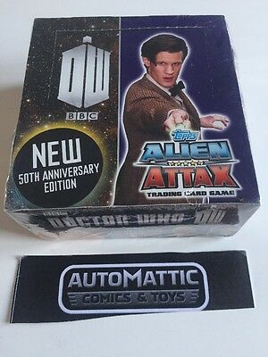 Doctor Who Alien Attax 50th Topps Sealed Box Autograph Costume