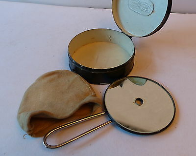 Wwi Opthalmoscope Mirror Cased Optical Instrument .
