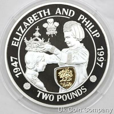 1997 Alderney Silver Proof £2 Two Pound Crown Coin