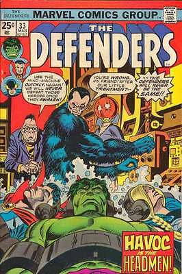 Defenders (1972 series) #33 in Fine + condition. FREE bag/board