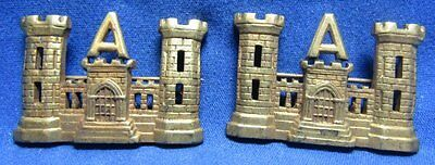 Spanish American War SAW Army Engineer Officer A Company Insignia Set RARE