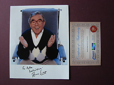 Ronnie Corbett SIGNED colour photo Autograph 10 x 8 with COA