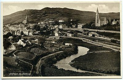 CLIFDEN, Galway, LAWRENCE Postcard, c1930s, pre 1935 as Railway in Operation