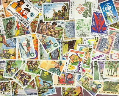 300 Scouts Scouting All Different Stamp Collection Lot