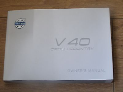 Volvo V40 Cross Country Owners Manual Handbook 2013 - 2017.  Free Postage