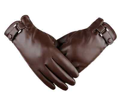 Warm Men Winter Genuine Leather Motorcycle Full Finger Touch Screen Warm Gloves