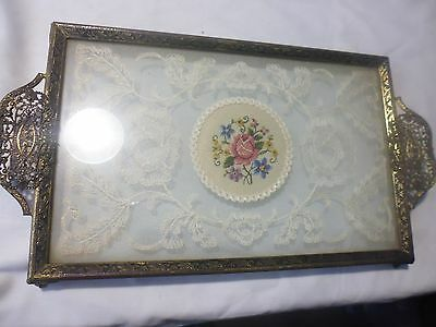 Glass tray on legs