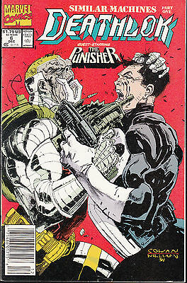 Deathlok  #6  1991 Marvel Fn+ G/s Punisher..cowan/ Wright