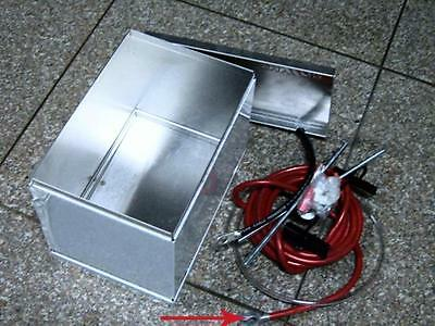 Battery Box Fabricated Aluminum Relocation Kit With Copper Wire And Hold Down