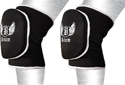 BOOM Prime MMA Volleyball Padded Knee Pads Wrestling Protector Martial Arts Wear