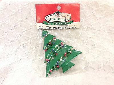 For WESTRIM Mini Beaded Christmas Tree POPCORN GARLAND Color Pearl VTG Michaels