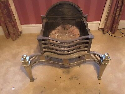 fire basket with brass dogs