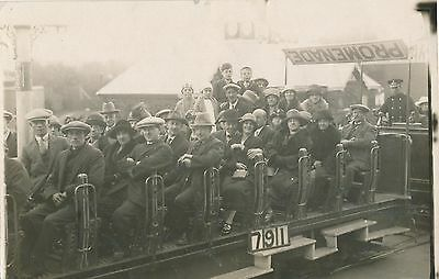 POSTCARD   SOCIAL  HISTORY  BLACKPOOL  Outing  on  a Roofless Tram