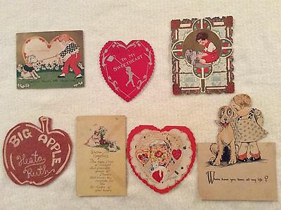 Lot of Antique Vintage Valentine Cards