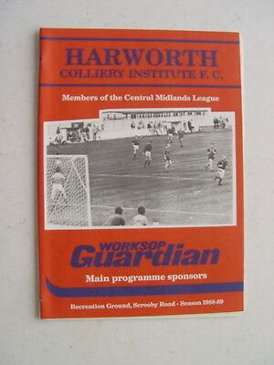Harworth Colliery Institute v Aston Villa 1988 Kevin Pressley