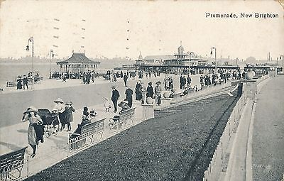 POSTCARD  NEW BRIGHTON  Promenade