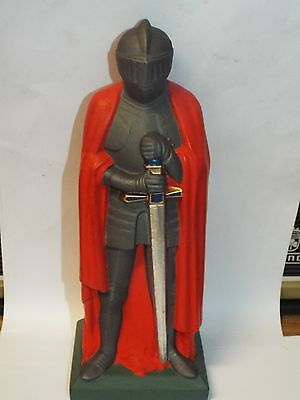 """Cast Metal Knight Unknown Period Interesting Stands Approx 9-10"""" Tall"""