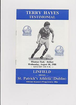 Linfield v St Patrick's Athletic 1988 Terry Hayes