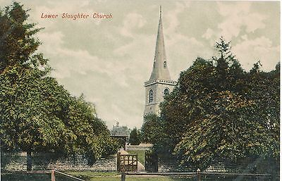 POSTCARD  GLOUCESTERSHIRE    Lower  Slaughter  Church