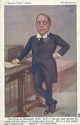 POSTCARD  PERSONS  POLITICS  Earl of Rosebery  Vanity Fair    Tuck