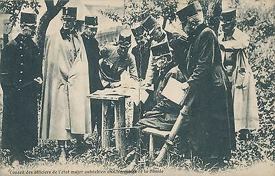 POSTCARD  MILITARY  Officer's  Meeting  Bosnie