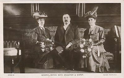 POSTCARD  PERSONS  POLITICS  GENERAL  BOTHA with Daughter &  Sister
