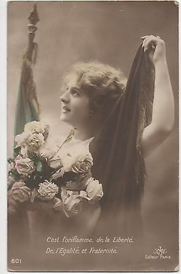 POSTCARD  GLAMOUR  French Beauty  601